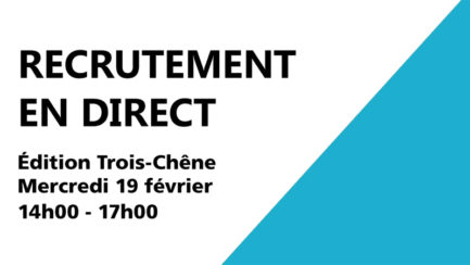 Recrutements en direct pour l'apprentissage