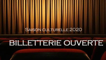 Saison culturelle 2020: billetterie ouverte!